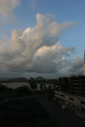 Cloud Blob over lake